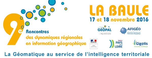 7emes rencontres des dynamiques regionales en information geographique